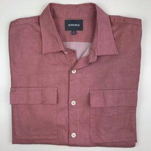 Bonobos pink button down shirt XL Long